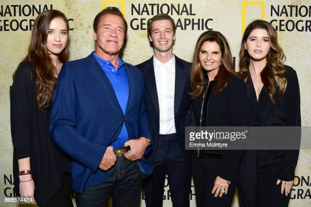 Christina Schwarzenegger Arnold Schwarzenegger Patrick Schwarzenegger Maria Shriver and Katherine Schwarzenegger attend the premiere of National...