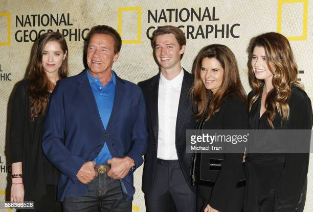 Christina Schwarzenegger Arnold Schwarzenegger Patrick Schwarzenegger Maria Shriver and Katherine Schwarzenegger arrive at the Los Angeles premiere...