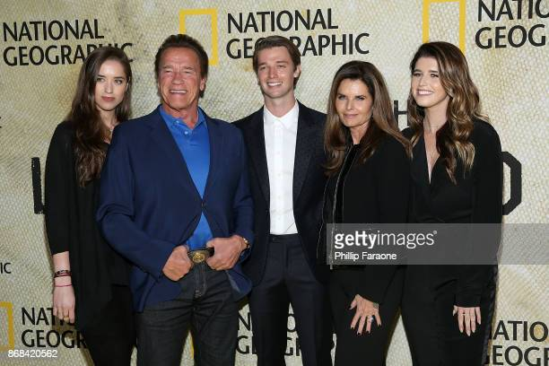 Christina Schwarzenegger Arnold Schwarzenegger Patrick Schwarzenegger Maria Shriver and Katherine Schwarzenegger attend the premiere of National...