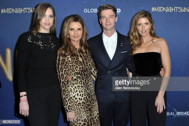 Christina Schwarzenegger Maria Shriver Patrick Schwarzenegger and Katherine Schwarzenegger attend the Global Road Entertainment's World Premiere of...