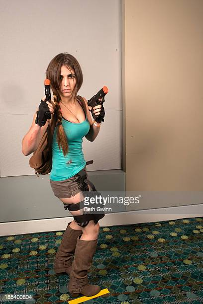 Christina Sepulveda as Lara Croft attends Nashville Comic Con 2013 at Music City Center on October 19 2013 in Nashville Tennessee