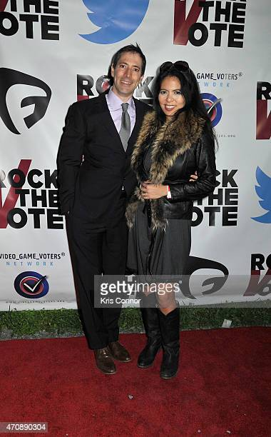 Christina Sevilla and guest attend Rock The Vote Annual WHCD Weekend KickOff Event presented by Fusion and Twitter on April 23 2015 in Washington DC