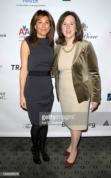 Christina Steinbrenner and Beth Shapiro attend the 25th Annual Power Lunch for Women at The Pierre Hotel on November 18 2011 in New York City