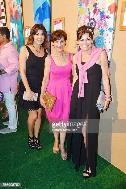 Christina Steinbrenner Myra Biblowit and Lisa PevaroffCohn attend the 2016 Hamptons Paddle Party for Pink Benefiting the Breast Cancer Research...