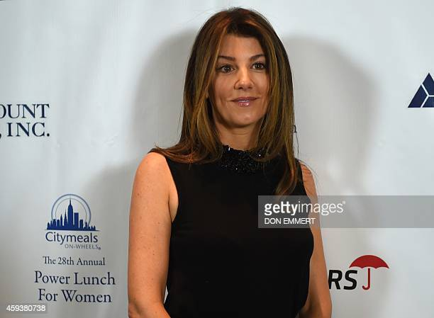 Christina Steinbrenner poses for a photo prior to the CitymealsonWheels 28th annual power lunch November 21 2014 in New York The benefit luncheon...