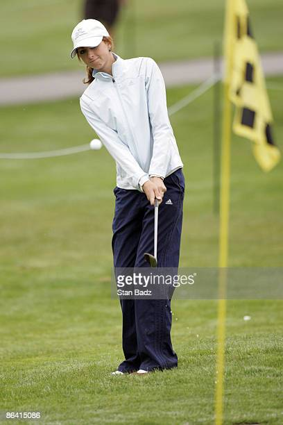 Christina Stockton in action during the second round of the 2005 WalMart First Tee Open at Pebble Beach Golf Links on September 32005 The event was...