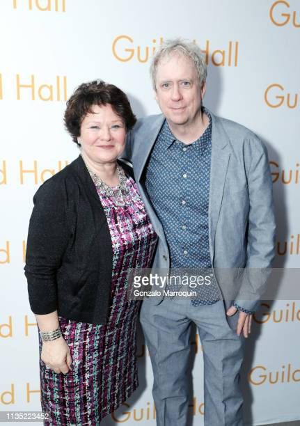 Christina Strassfield and Tony Oursler attends the Guild Hall Academy Of The Arts 34th Annual Achievement Awards Dinner at The Rainbow Room on March...
