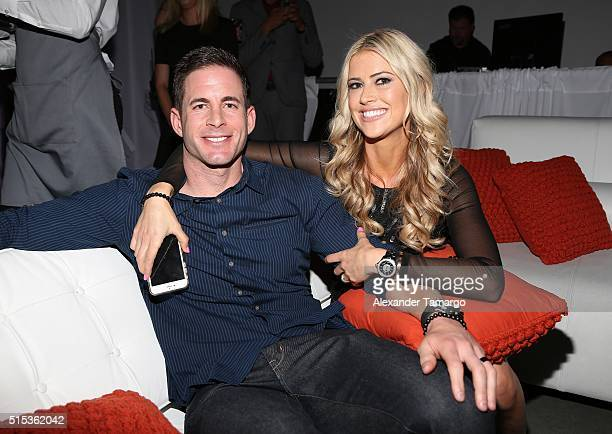"Christina & Tarek El Moussa of HGTV's ""Flip or Flop,"" new North American brand attend the TREND Group and Granite Transformations global rebranding..."