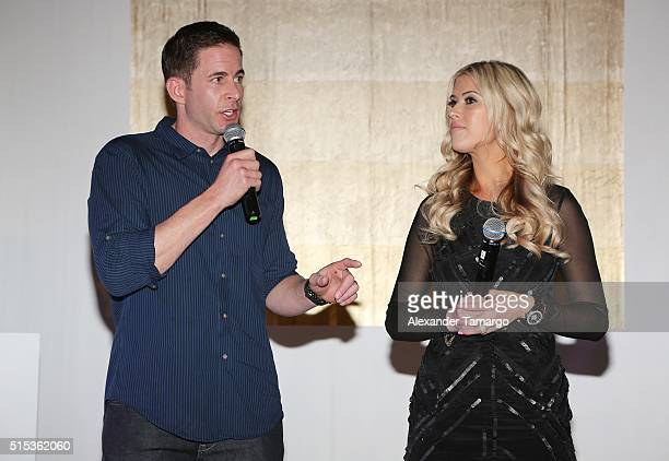 Christina Tarek El Moussa of HGTV's Flip or Flop new North American brand ambassadors attend the TREND Group and Granite Transformations global...