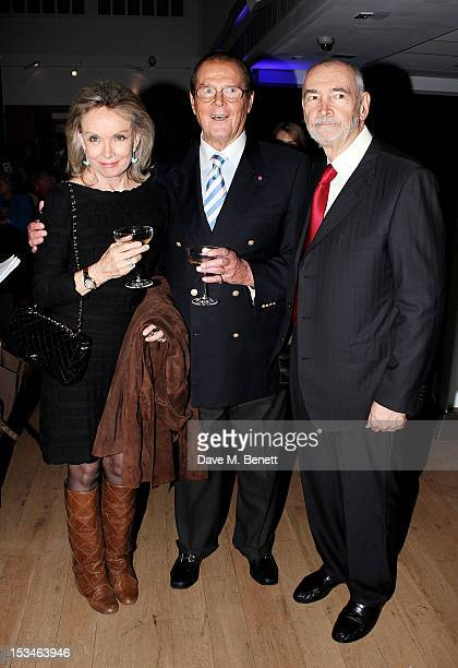 Christina Tholstrup Sir Roger Moore and Michael G Wilson attend '50 Years Of James Bond The Auction' celebrating the 50th anniversary of the film...