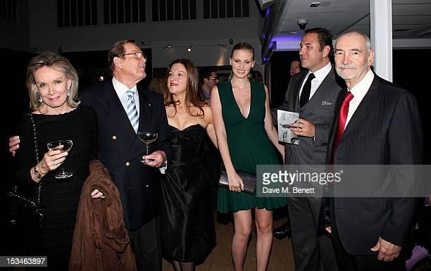 Christina Tholstrup Sir Roger Moore Barbara Broccoli Lara Stone David Walliams and Michael G Wilson attend '50 Years Of James Bond The Auction'...