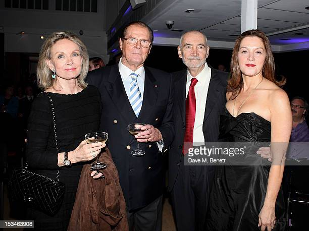 Christina Tholstrup Sir Roger Moore Michael G Wilson and Barbara Broccoli attend '50 Years Of James Bond The Auction' celebrating the 50th...