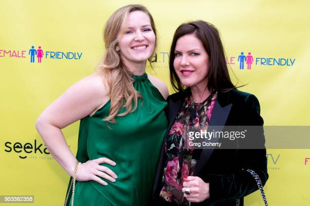 Christina Troutman and Kira Reed Lorsch attend the 'Female Friendly' Screening at The Three Clubs Hollywood Launching Now on April 30 2018 in Los...