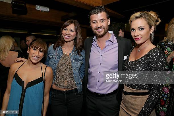Christina Vargas Stacey Rogers Matt Green and Alyssa Ramos attend the Yellowtail Sunset Grand Opening on February 6 2015 in West Hollywood California