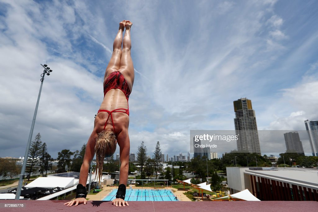 Christina Wassam of Germany warms up before the womens 10m platform final during the FINA Gold Coast Diving Grand Prix at the Gold Coast Aquatic Centre on November 11, 2017 in Gold Coast, Australia.