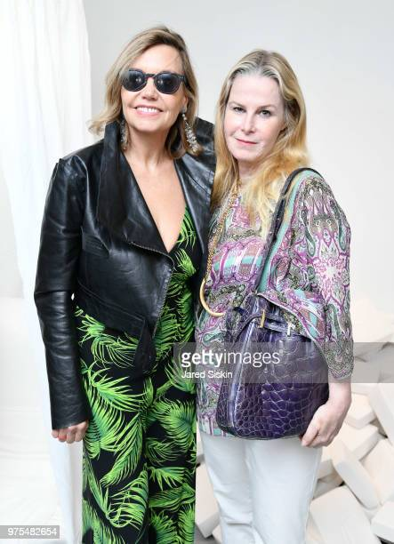 Christina Wood and Andrea Karambelas attend Rachel Lee Hovnanian The Women's Trilogy Project Park 3 PURE at Leila Heller Gallery on June 7 2018 in...
