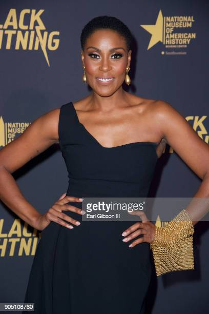 Christine Adams attends the 'Black Lightning' World Premiere at National Museum Of African American History Culture on January 13 2018 in Washington...