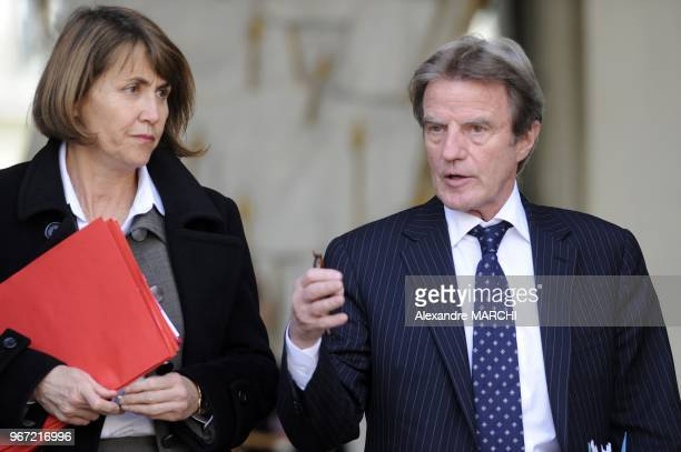 Christine Albanel Culture Minister and French Foreign Affairs Bernard Kouchner