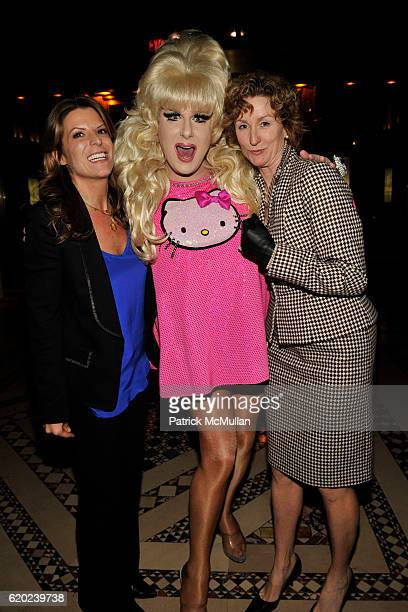 Christine Alloro, Lady Bunny and Lisa Lou attend THE 2008 EMERY AWARDS Benefiting the HETRICK-MARTIN Institute at Cipriani 42nd Street on November...