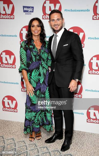 Christine and Frank Lampard arrive for the TV Choice Awards at The Dorchester on September 4 2017 in London England
