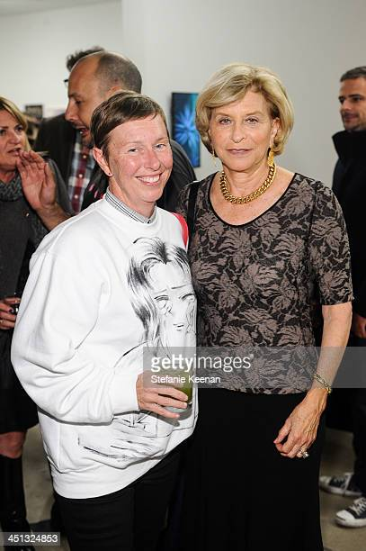 Christine and Gail Hollander attend The Rema Hort Mann Foundation LA Artist Initiative Benefit Auction on November 21 2013 in Los Angeles California