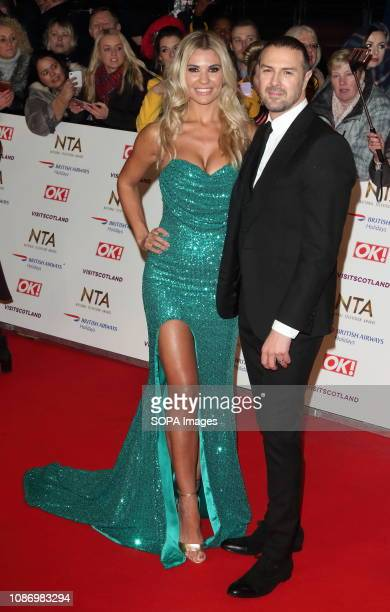 Christine and Paddy McGuinness are seen on the red carpet during the National Television Awards at the O2 Peninsula Square in London