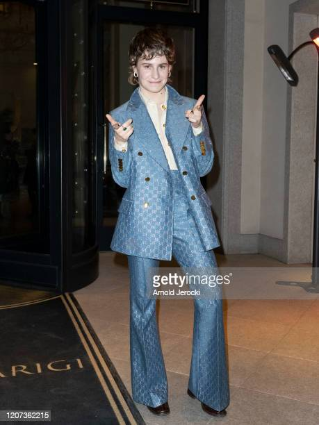 Christine and the Queens aka Heloise Letissier is seen during Milan Fashion Week Fall/Winter 20202021 on February 19 2020 in Milan Italy