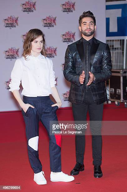 Christine and The Queens and Kendji Girac attend the 17th NRJ Music Awards at Palais des Festivals on November 7 2015 in Cannes France