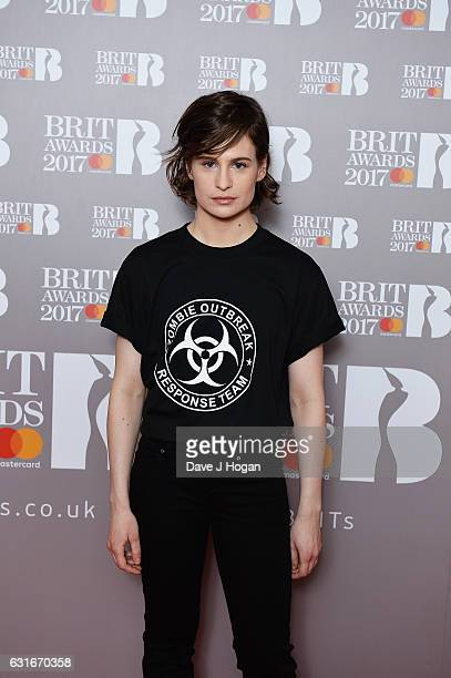 ARTIST Christine and the Queens attends BRITS nominations launch at ITV Studios on January 14 2017 in London England