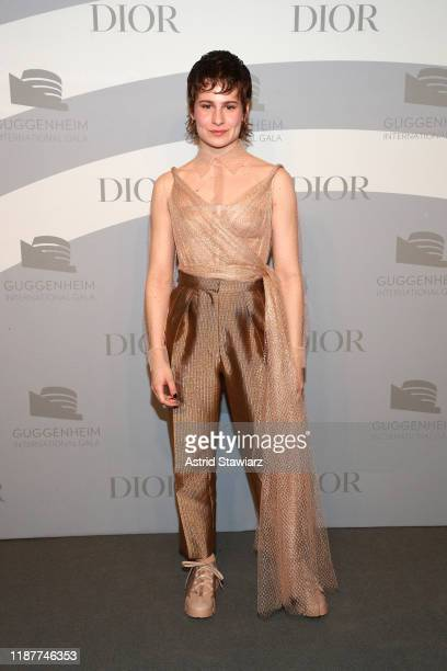 Christine and the Queens attends the 2019 Guggenheim International Gala at Solomon R Guggenheim Museum on November 14 2019 in New York City
