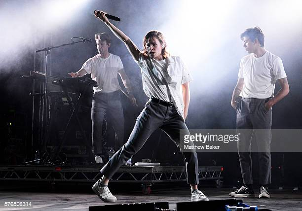Christine and the Queens perform on the BBC Radio 6 Music Stage at Latitude Festival at Henham Park Estate on July 15 2016 in Southwold England