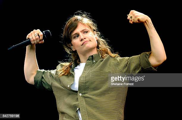 Christine and the Queens perform on The Other Stage at Glastonbury Festival 2016 at Worthy Farm Pilton on June 24 2016 in Glastonbury England