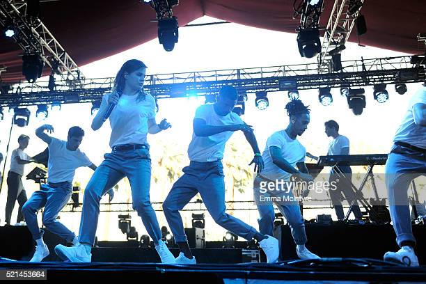 Christine And The Queens perform onstage during day 1 of the 2016 Coachella Valley Music Arts Festival Weekend 1 at the Empire Polo Club on April 15...