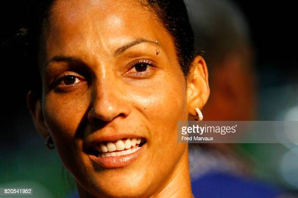 Christine ARRON 100m Alma Athle Tour 2009 Stade Georges Hebert Reims