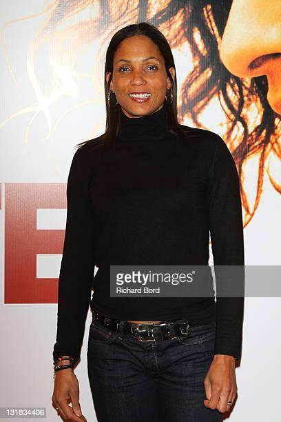 Christine Arron attends the Paris Premiere of 'La Ligne Droite' at Cinema Gaumont Opera on March 3 2011 in Paris France