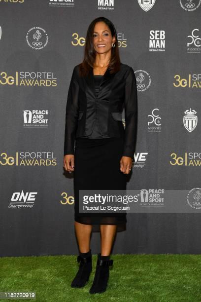 Christine Arron attends the SPORTEL Monaco Sports Media Media Convention 2019 on October 22 2019 in Monaco Monaco