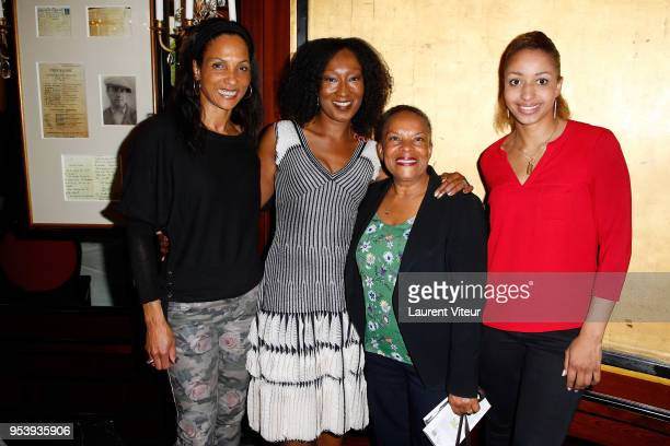 Christine Arron Nadege BeaussonDiagne Christiane Taubira and Estelle Mossely attend Noire n'est pas mon Metier Book Signing at Le Fouquet's on May 2...
