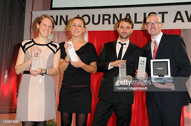 Christine Auerbach , Hannah Hoelscher , Fritz Schaap , Martin Schlueter attend the CNN Journalist Award 2012 at the GOP Variete Theater on March 27,...