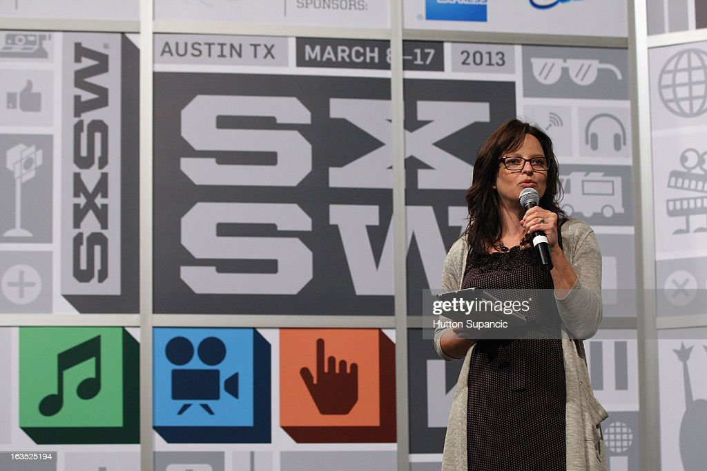 Christine Auten speaks onstage at the Julie Uhrman + Josh Topolsky Keynote during the 2013 SXSW Music, Film + Interactive Festival at Austin Convention Center on March 11, 2013 in Austin, Texas.