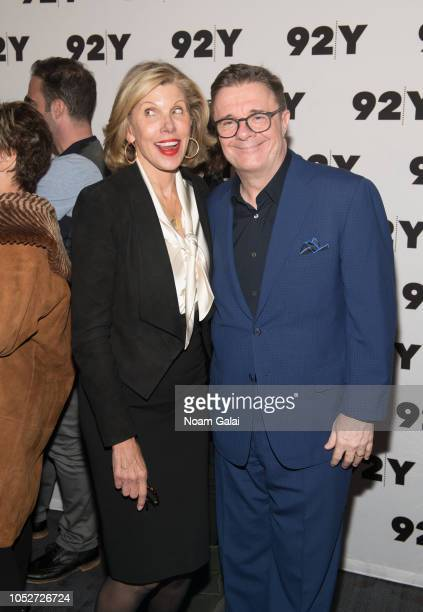 Christine Baranski and Nathan Lane attend Terrence McNally's 80th Birthday at 92nd Street Y on October 21 2018 in New York City