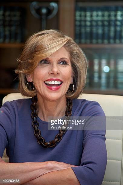 Christine Baranski at 'The Good Wife' Set Visit at on September 25 2015 at Stages in Brooklyn New York