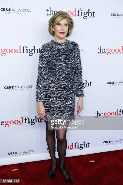 """Christine Baranski at the """"The Good Fight"""" World Premiere at Jazz at Lincoln Center on February 8, 2017 in New York City."""