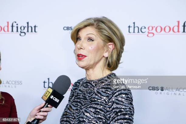 Christine Baranski at the The Good Fight World Premiere at Jazz at Lincoln Center on February 8 2017 in New York City