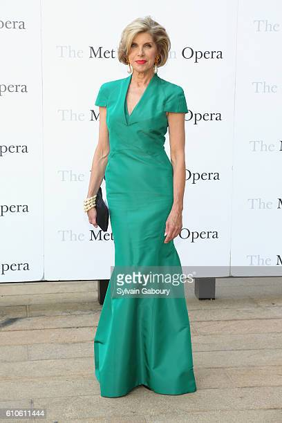 Christine Baranski attends Metropolitan Opera Opening Night Gala Premiere of Wagner's Tristan und Isolde at The Metropolitan Opera House on September...