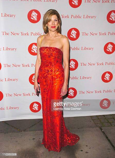 Christine Baranski attends the 10th Annual Library Lions Benefit at the New York Public Library on November 5th 2007 in New York City New York