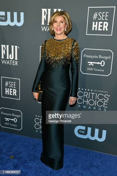 Christine Baranski attends the 25th Annual Critics' Choice Awards held at Barker Hangar on January 12 2020 in Santa Monica California