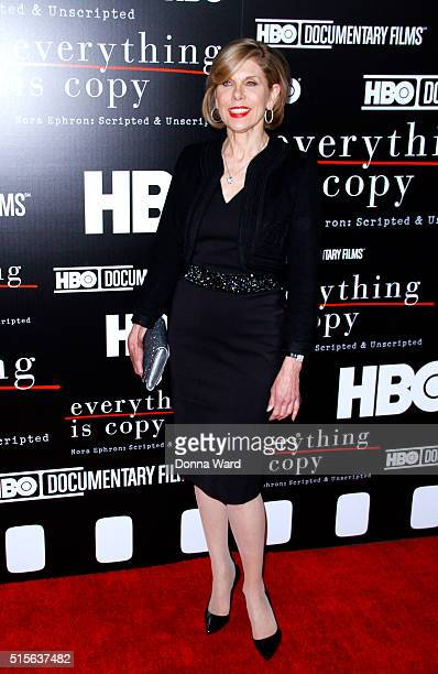 Christine Baranski attends the 'Everything Is Copy Nora Ephron Scripted Unscripted' sc at The Museum screening at Museum of Modern Art on March 14...