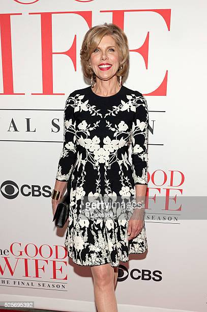 Christine Baranski attends 'The Good Wife' Finale Party at the Museum of Modern Art on April 28 2016 in New York City