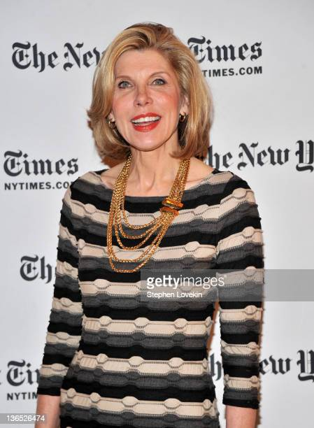 Christine Baranski attends the New York Times TimesTalk during the 2012 NY Times Arts Leisure weekend at The Times Center on January 6 2012 in New...