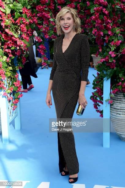 Christine Baranski attends the UK Premiere of Mamma Mia Here We Go Again at Eventim Apollo on July 16 2018 in London England